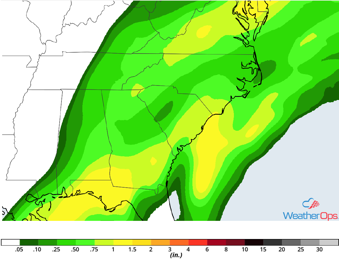 Rainfall Accumulation for Friday, December 28, 2018