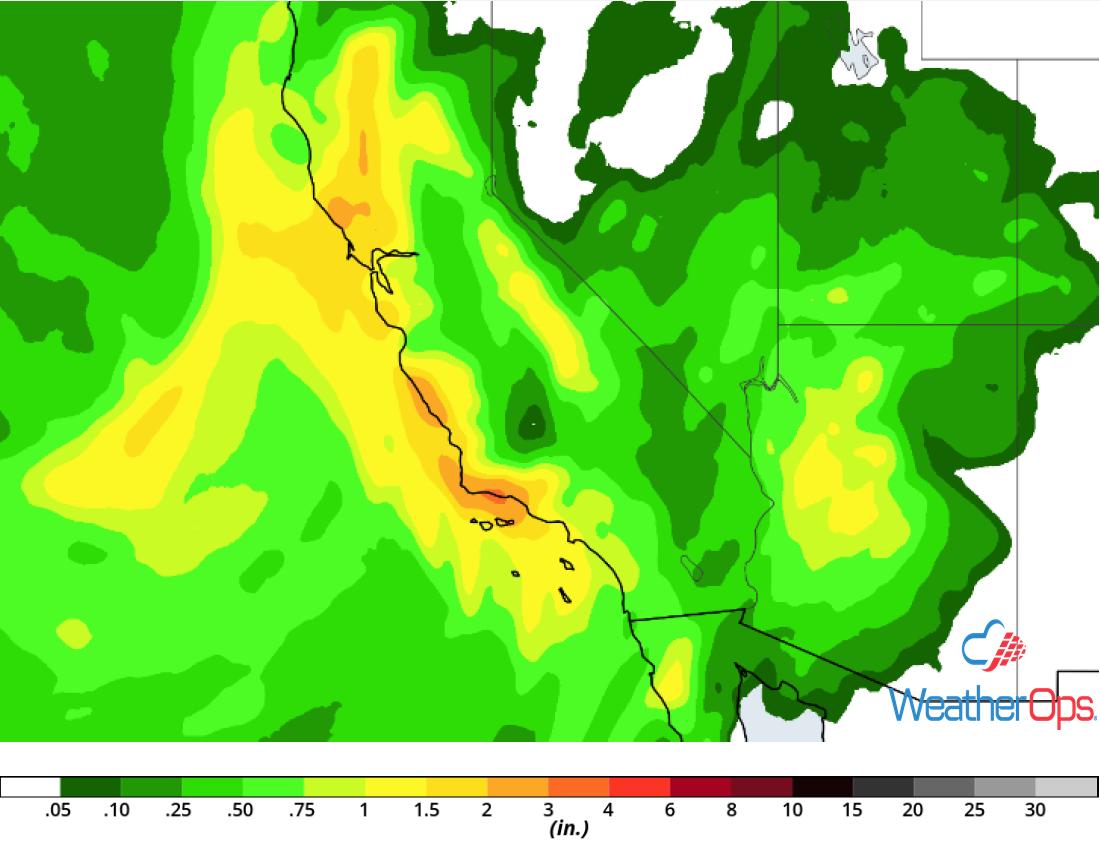 Rainfall Accumulation January 14-16, 2019