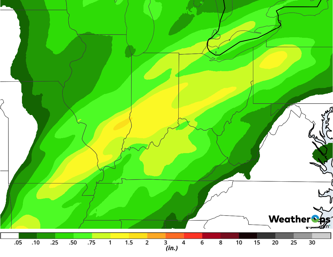 Rainfall Accumulation for Thursday, February 7, 2019