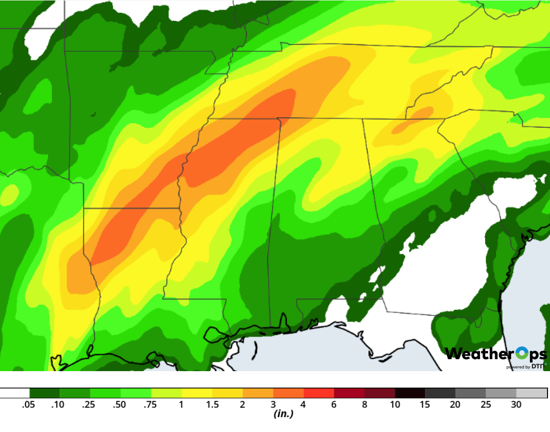 Rainfall Accumulation for February 21-22, 2019