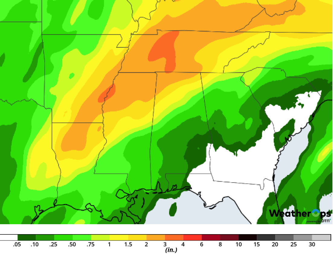Rainfall Accumulation for Friday, February 22, 2019
