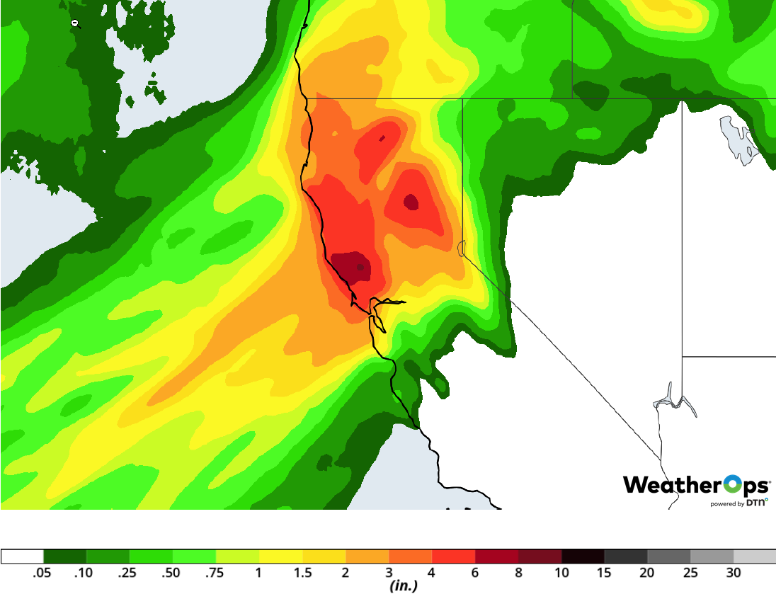 Rainfall Accumulation for February 25-26, 2019
