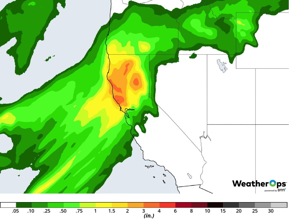 Rainfall Accumulation for Tuesday, February 26, 2019