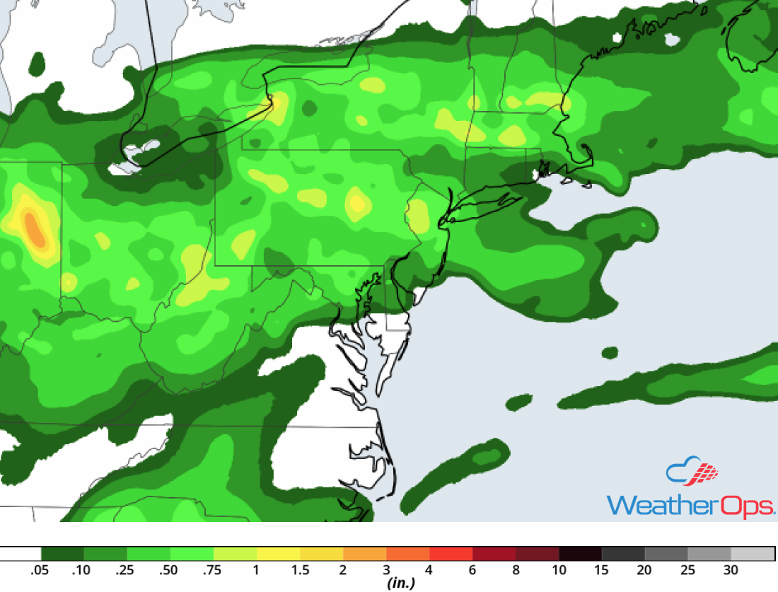 Rainfall Accumulation for Tuesday, May 15, 2018