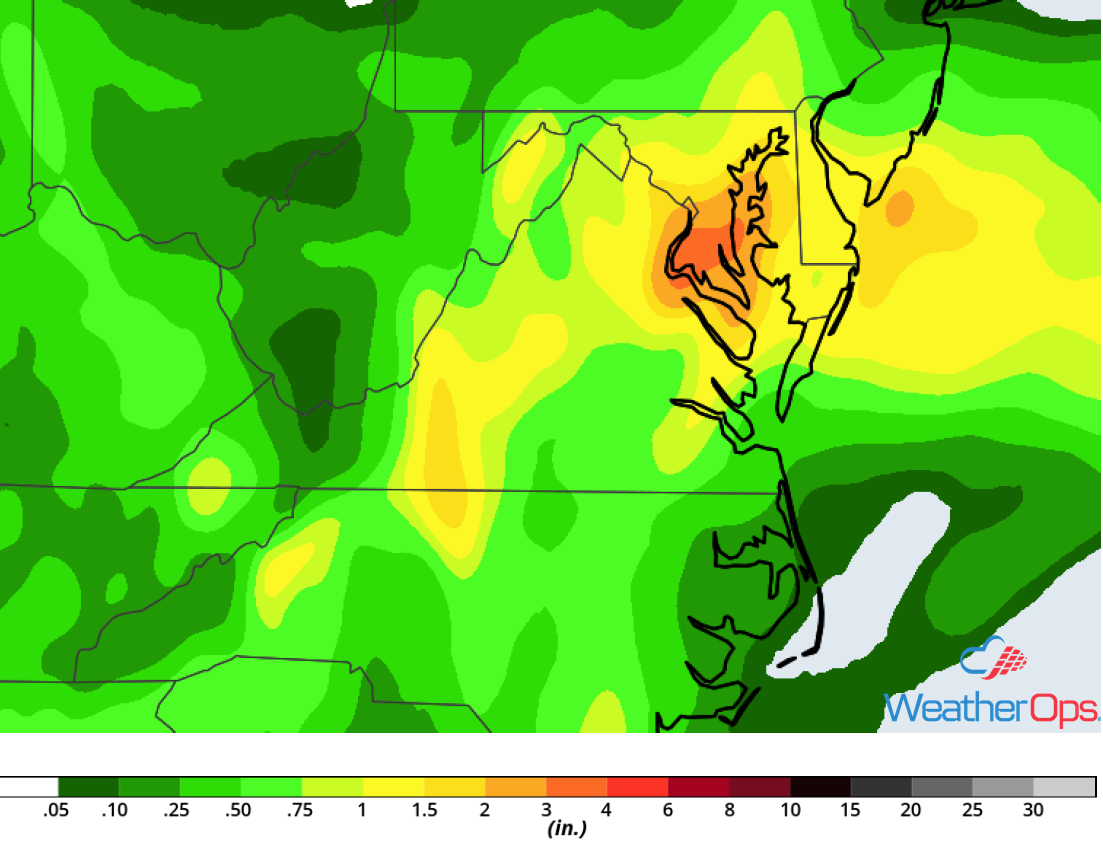 Rainfall Accumulation for Friday, May 18, 2018