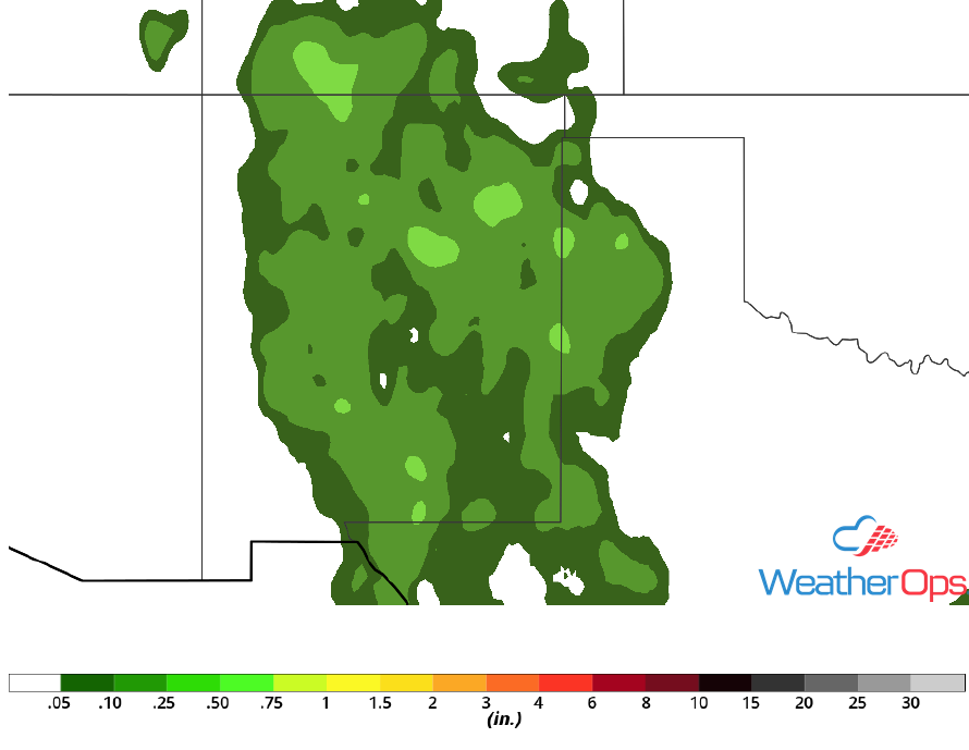 Rainfall Accumulation for Monday, May 12, 2018