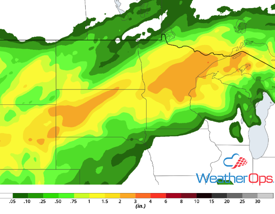 Rainfall Accumulation June 15-17, 2018