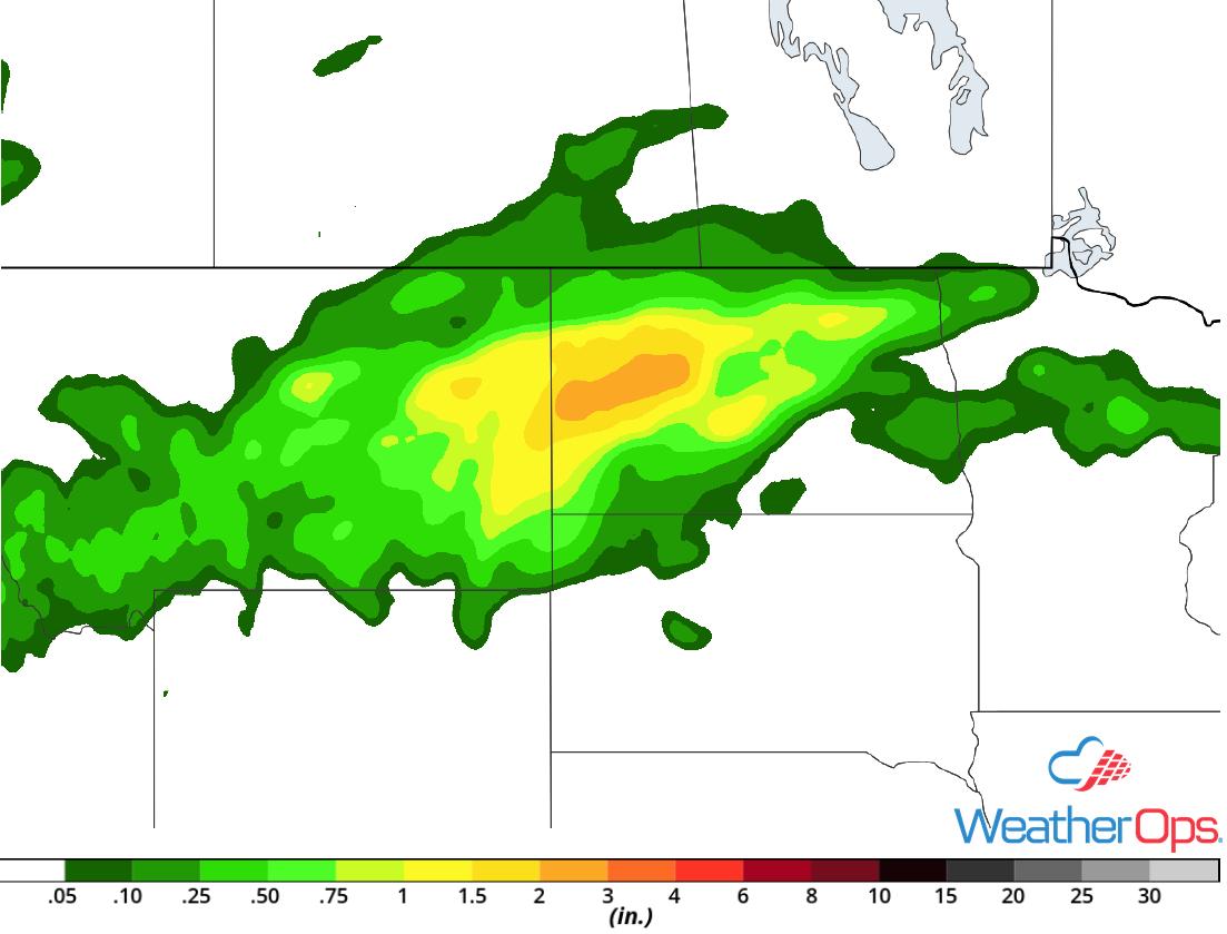 Rainfall Accumulation for Thursday, June 28, 2018