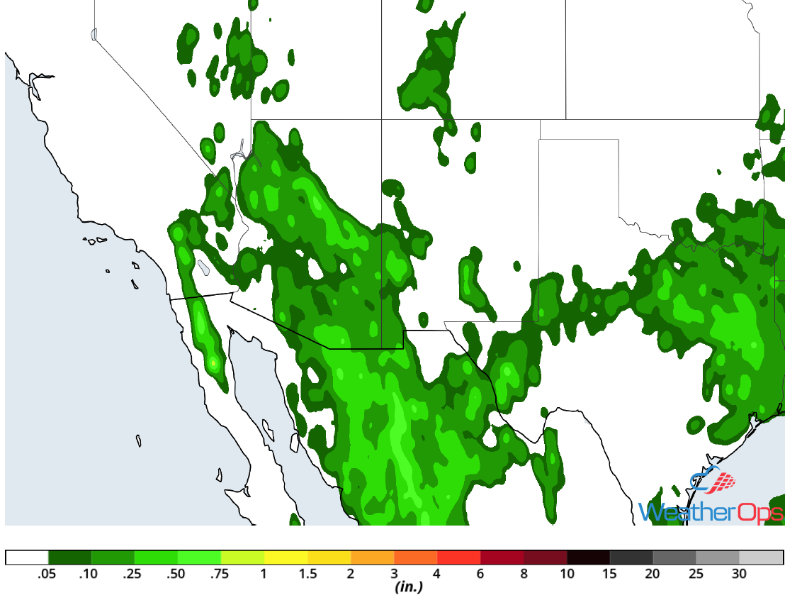 Rainfall Accumulation for Tuesday, July 10, 2018