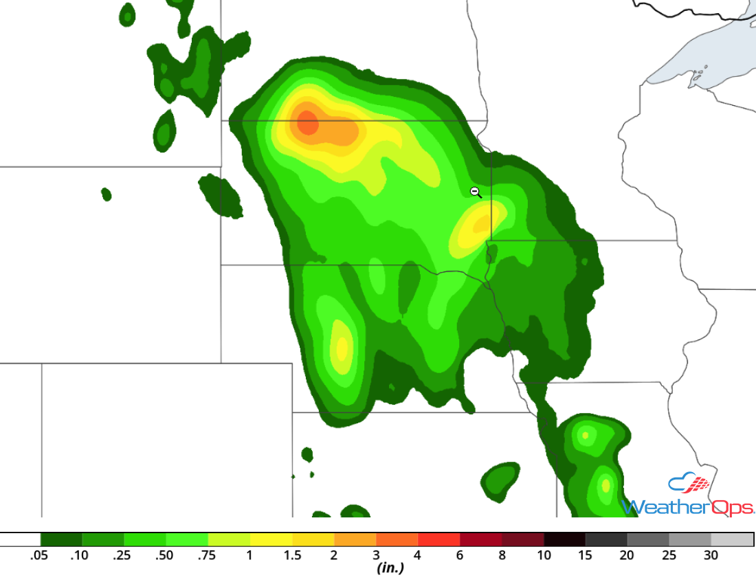 Rainfall Accumulation for Wednesday, July 19, 2018
