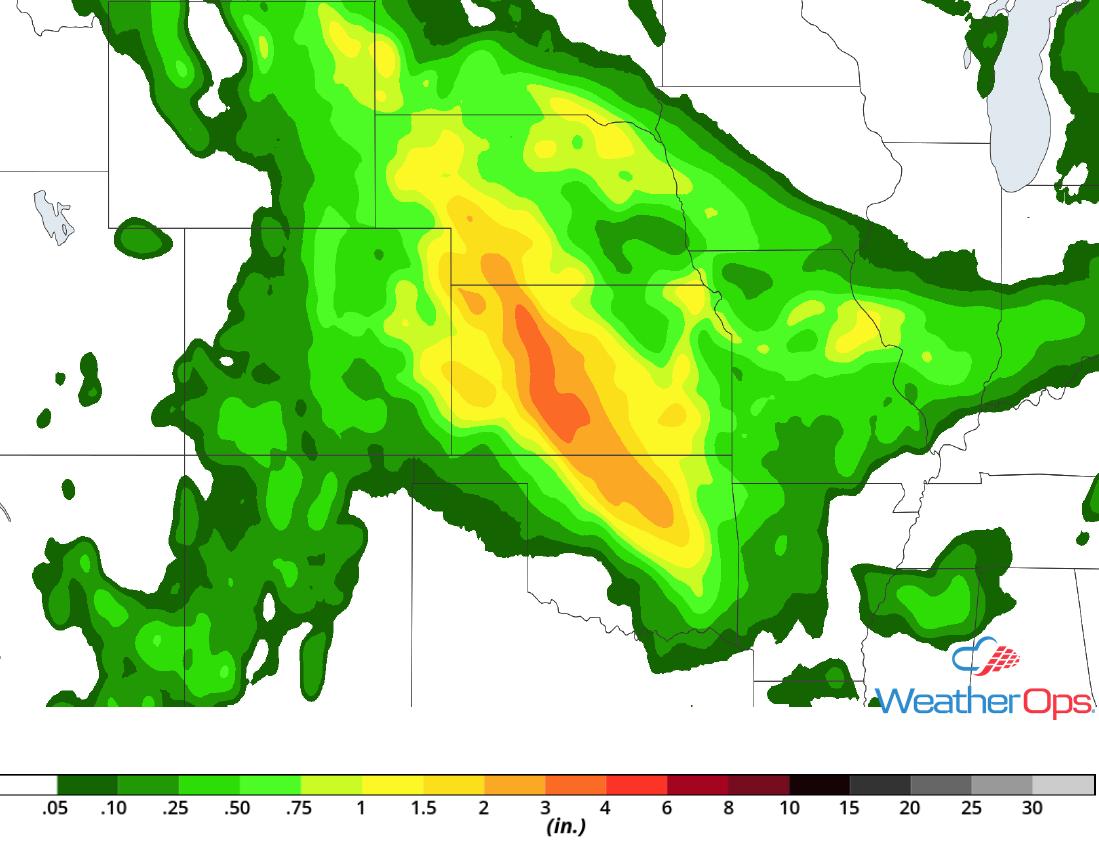 Rainfall Accumulation July 27-29, 2018