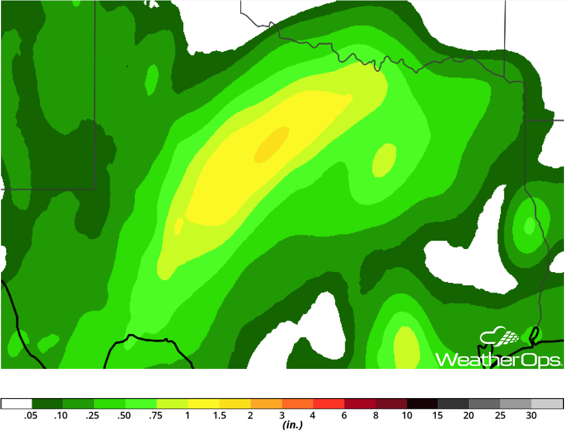 Rainfall Accumulation for Wednesday, October 17, 2018