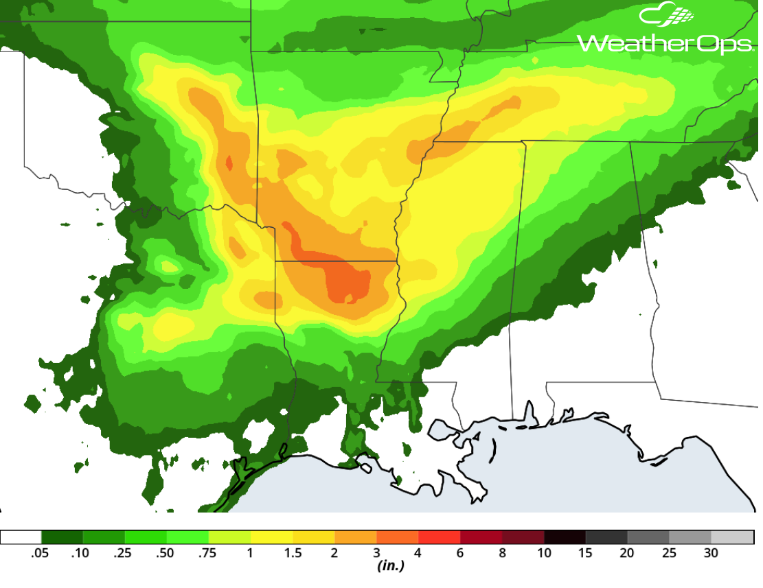 Rainfall Accumulation for April 6-7, 2018