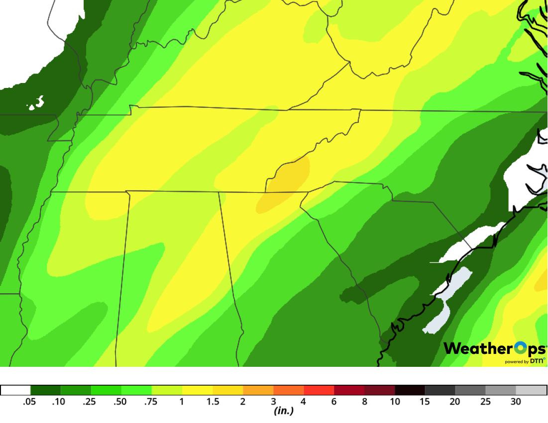Rainfall Accumulation for Tuesday, February 12, 2019