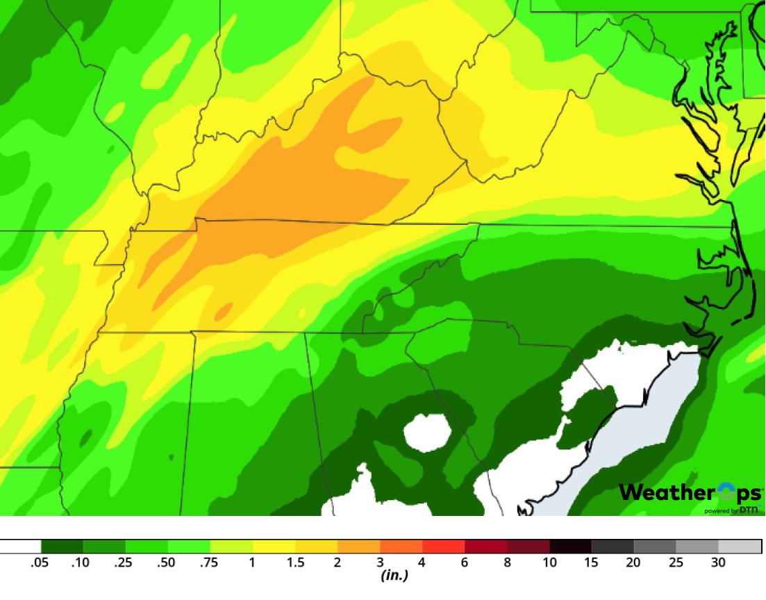 Rainfall Accumulation for Saturday, February 23, 2019