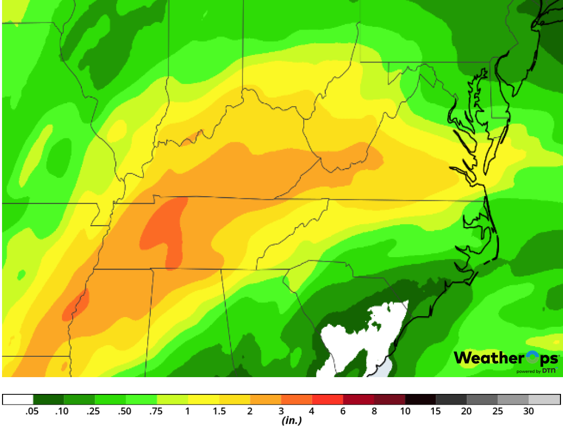 Rainfall Accumulation for Saturday, February 23, 2019