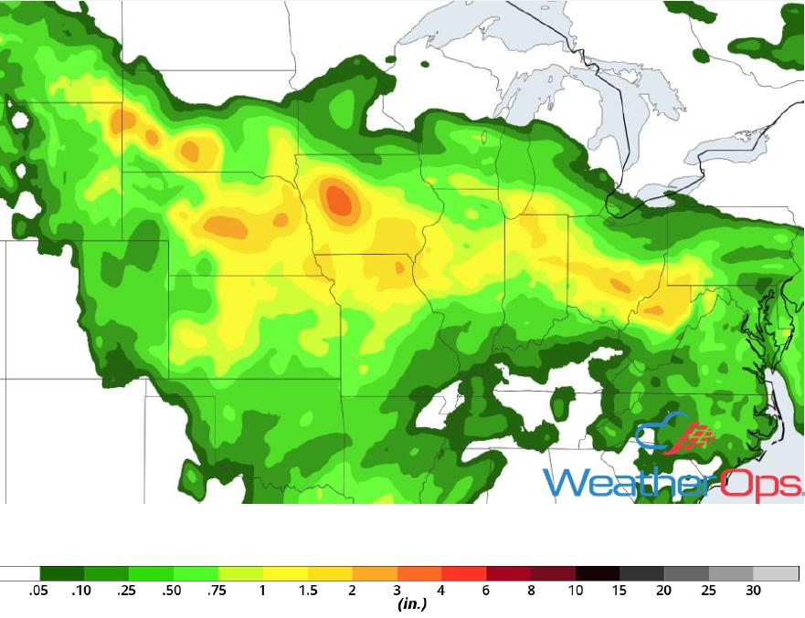 Rainfall Accumulation for June 19-20, 2018