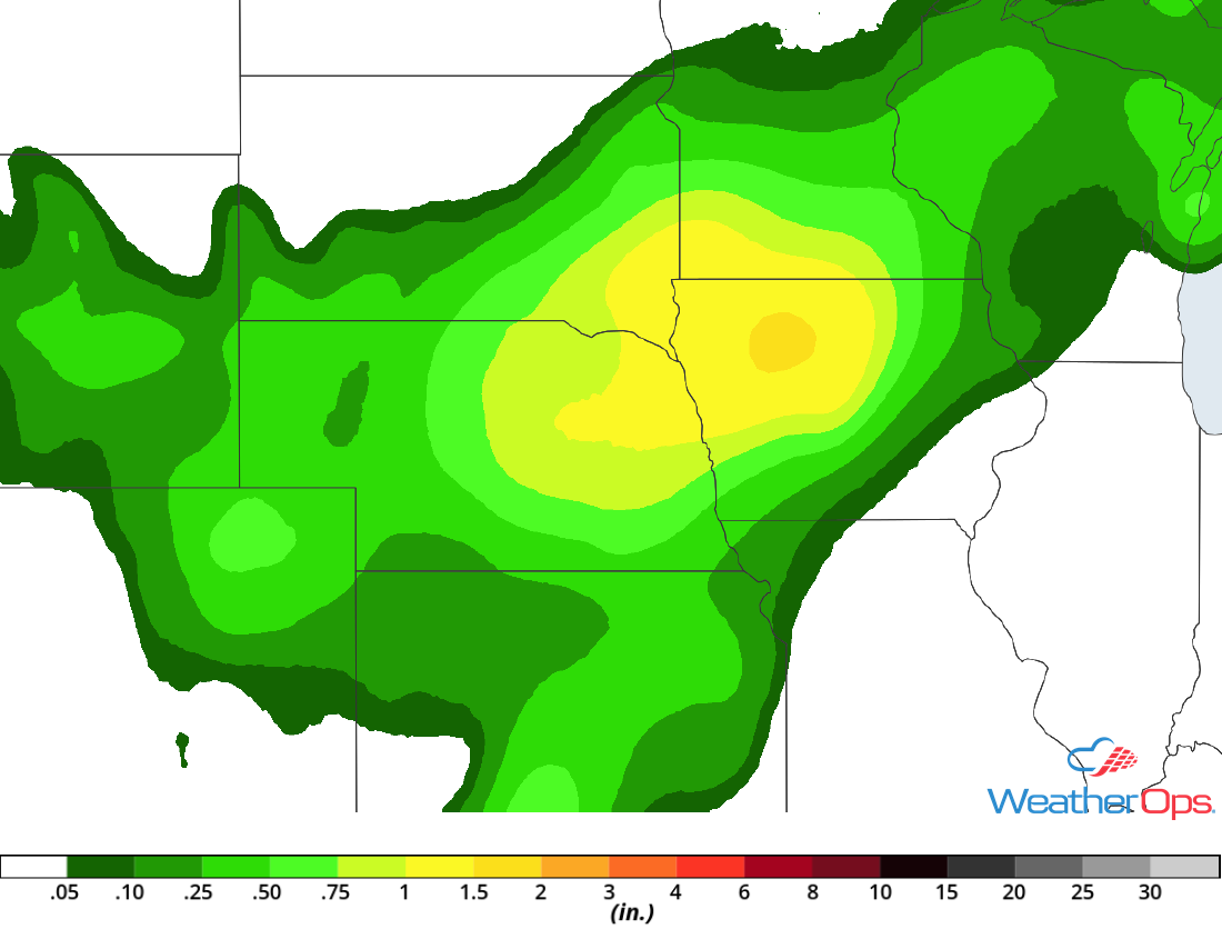 Rainfall Accumulation for Tuesday, July 3, 2018