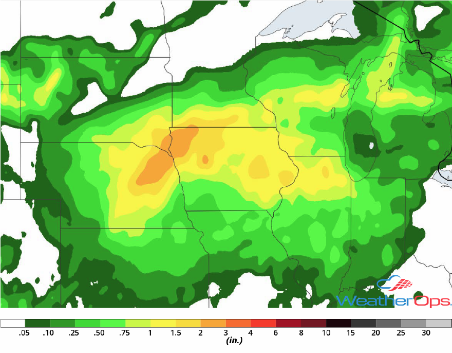 Rainfall Accumulation for July 13-14, 2018