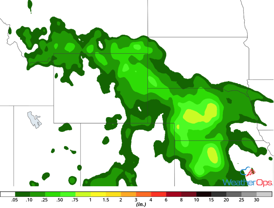 Rainfall Accumulation for Tuesday, July 17, 2018