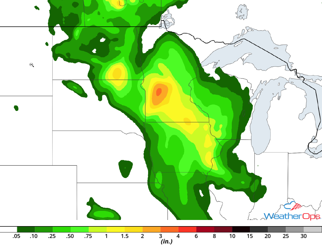 Rainfall Accumulation for Thursday, July 19, 2018