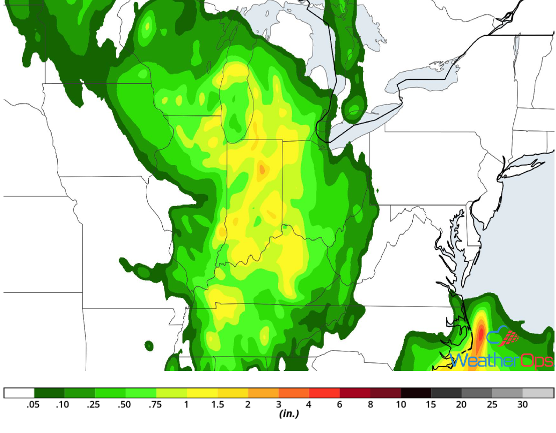 Rainfall Accumulation for Friday, July 20, 2018