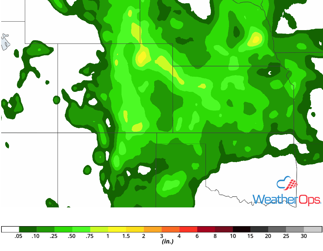 Rainfall Accumulation for July 25-26, 2018