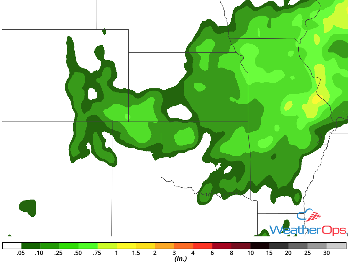 Rainfall Accumulation for Tuesday, August 7, 2018