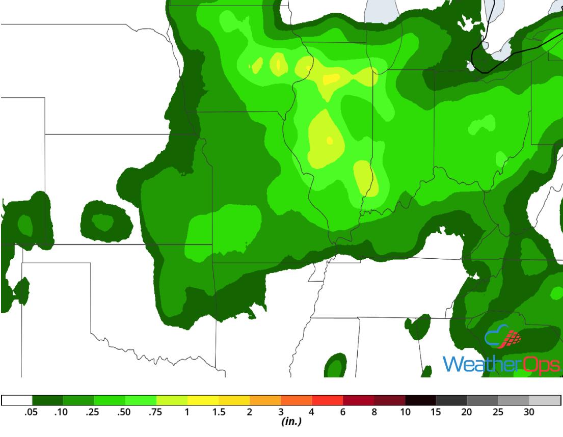 Rainfall Accumulation for Tuesday, August 8, 2018