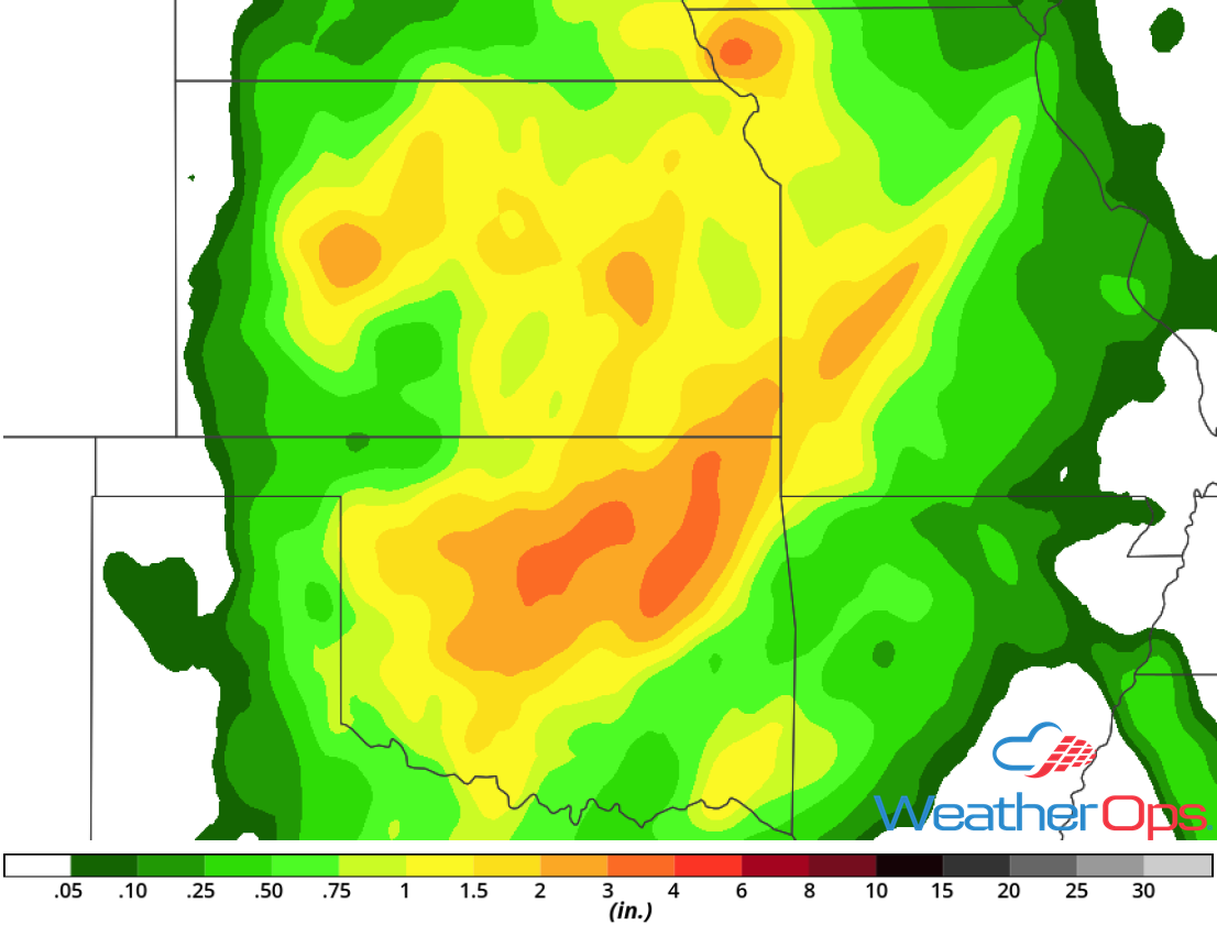 Rainfall Accumlation August 13-14, 2018