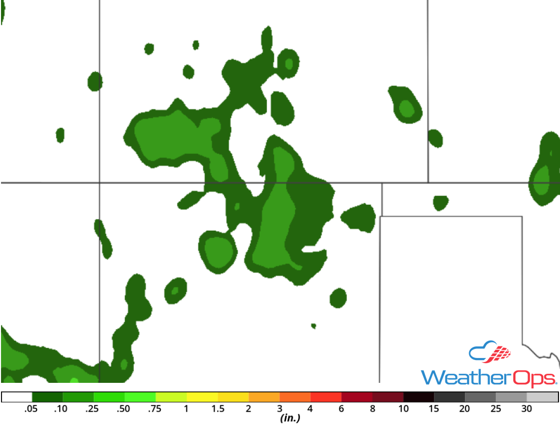 Rainfall Accumulation for Wednesday, August 15, 2018