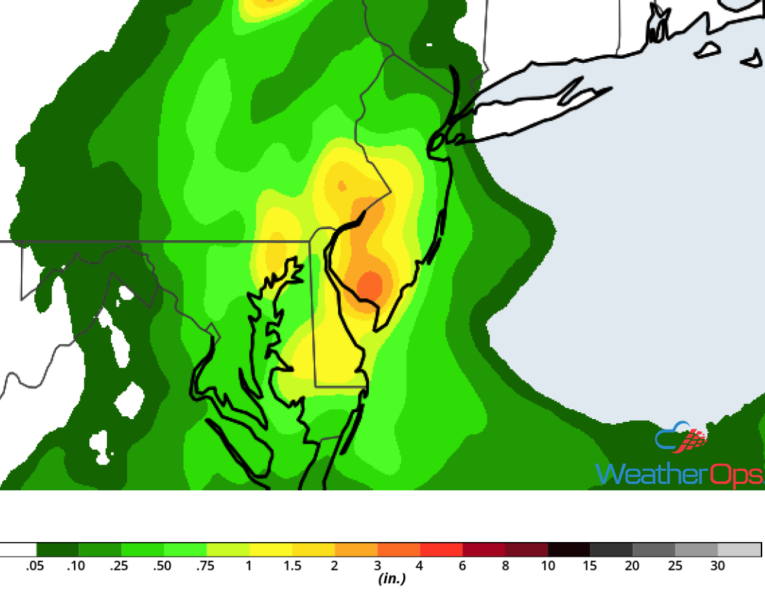 Rainfall Accumulation for Friday, August 31, 2018