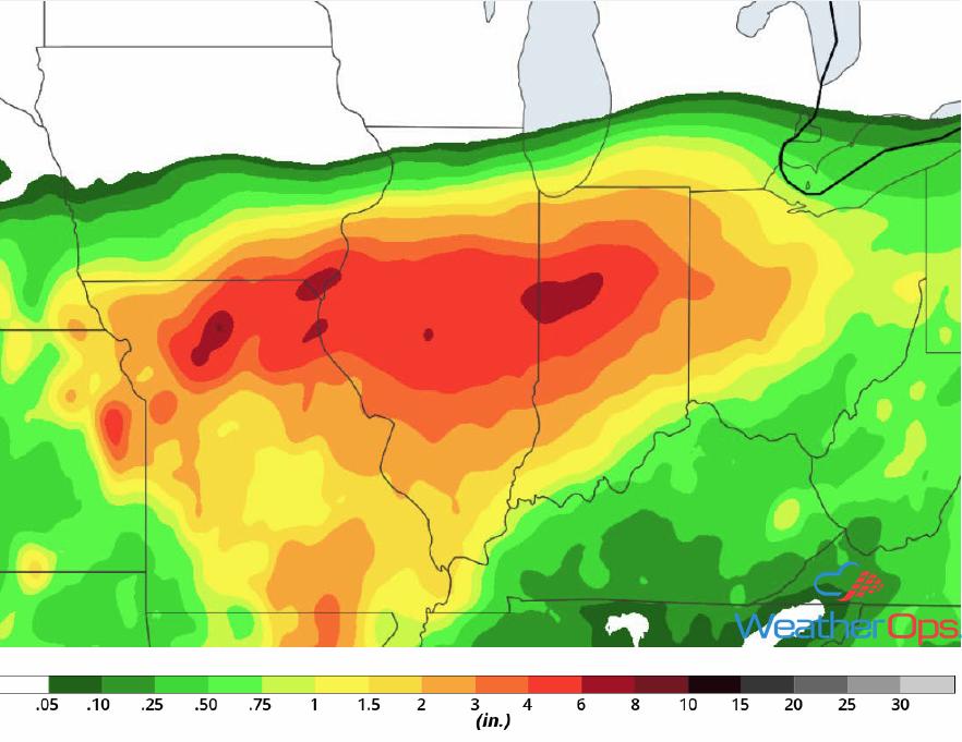 Rainfall Accumulation September 6-8, 2018