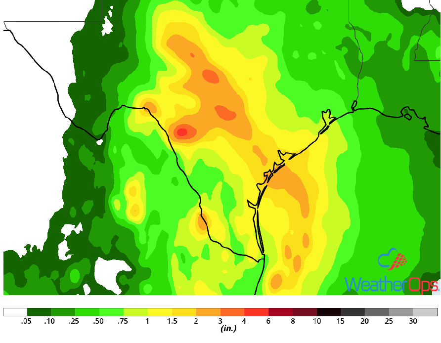 Rainfall Accumulation for September 14-15, 2018