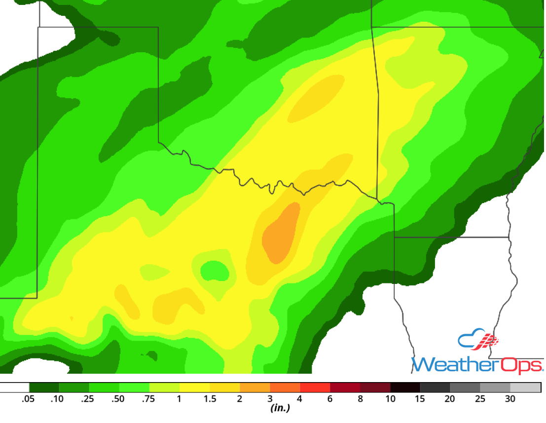 Rainfall Accumulation for Saturday, October 13, 2018