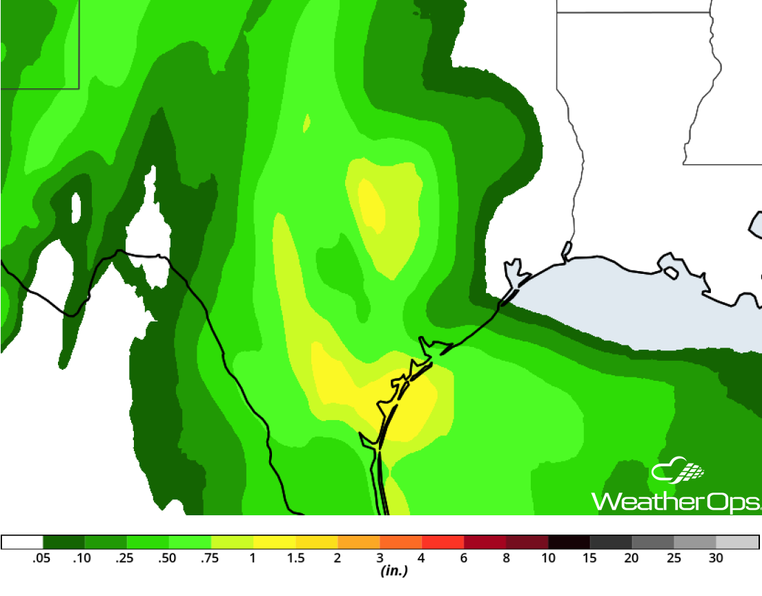 Rainfall Accumulation for Thursday, October 18, 2018