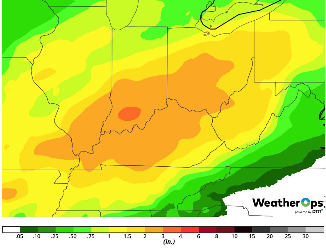 Rainfall Accumulation February 6-8, 2019
