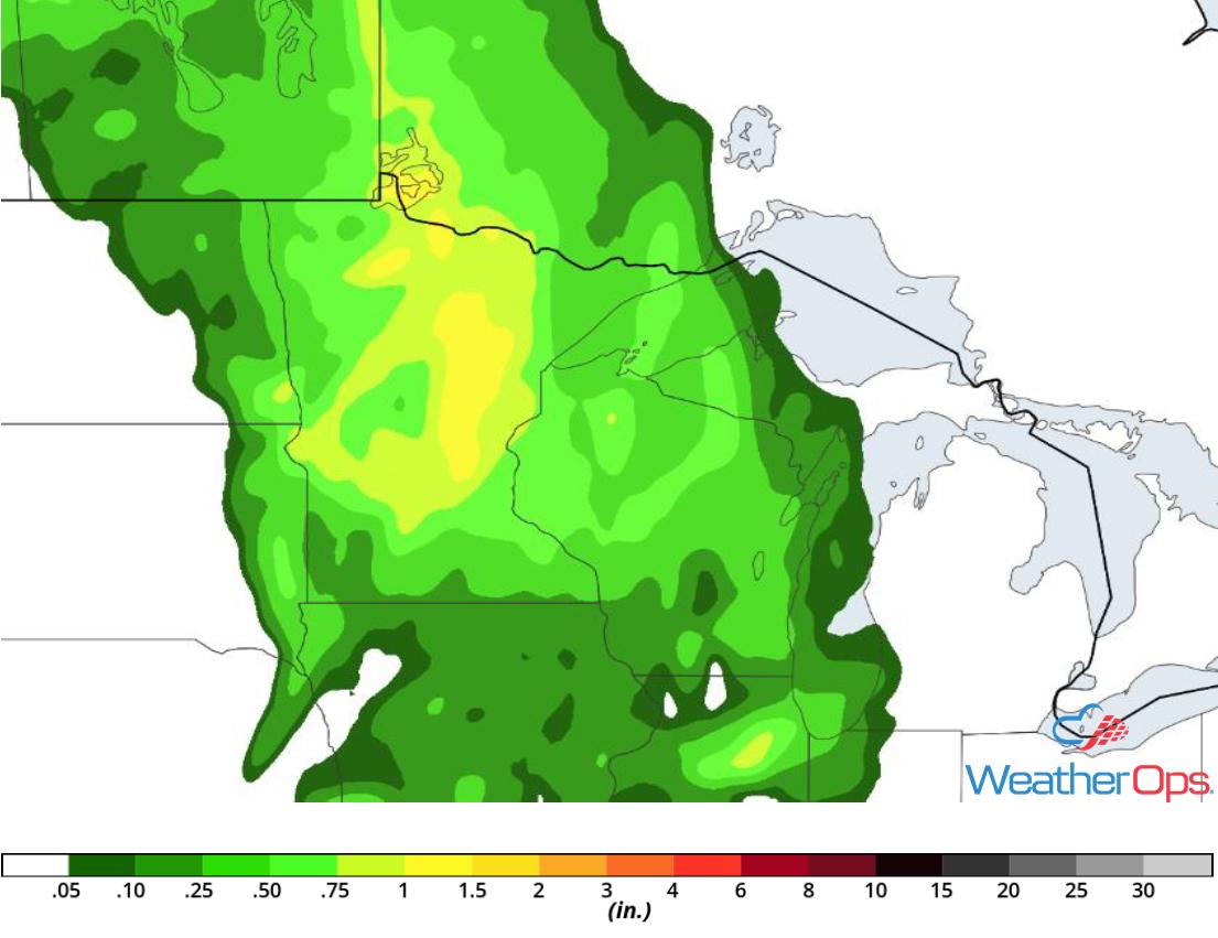 Rainfall Accumulation for Saturday, June 2, 2018