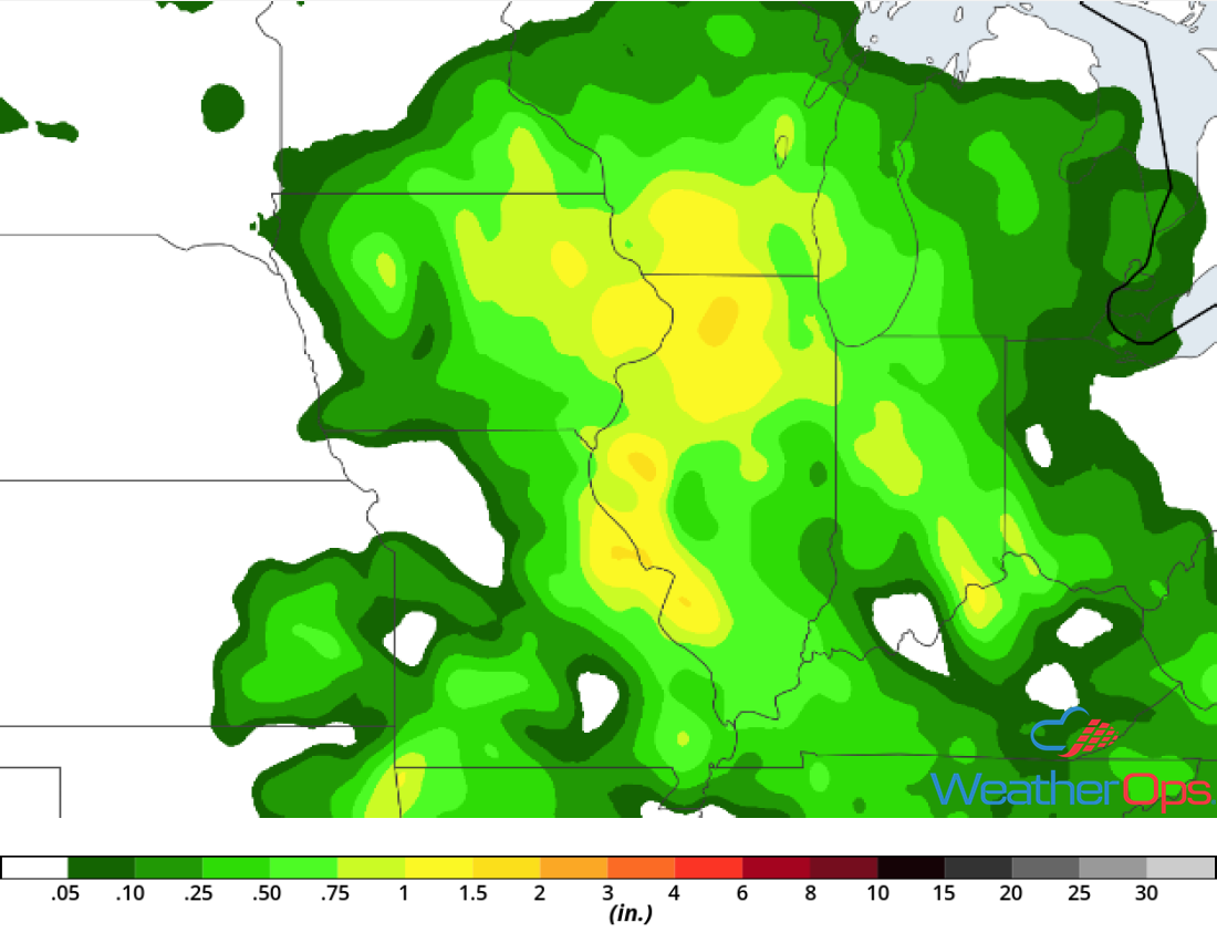 Rainfall Accumulation for Tuesday, June 26, 2018