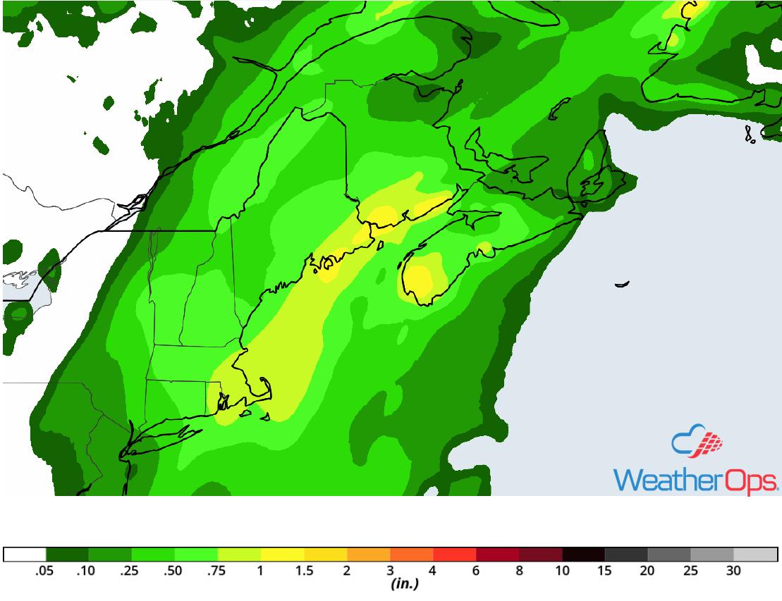 Rainfall Accumulation for Thursday, July 26, 2018