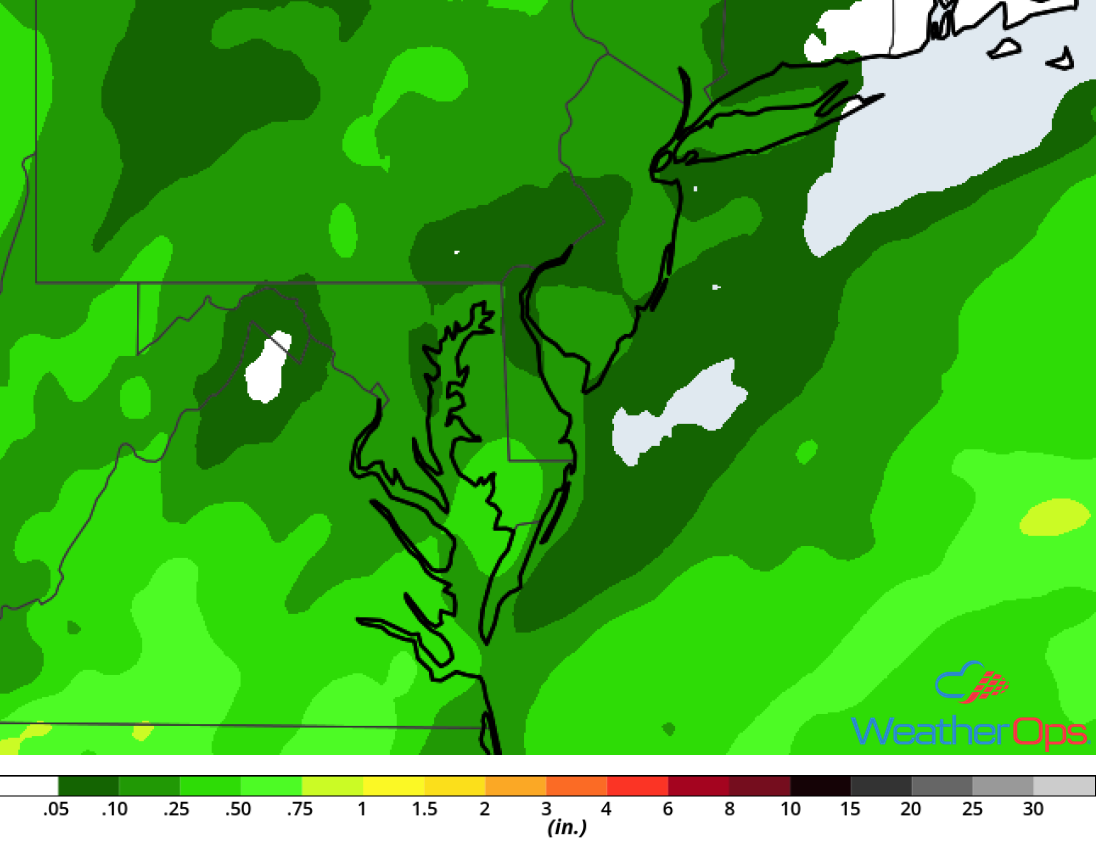 Rainfall Accumulation for Tuesday, July 31, 2018