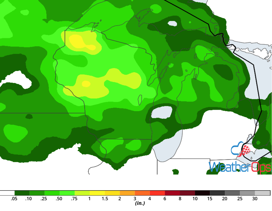 Rainfall Accumulation for Sunday, August 26, 2018