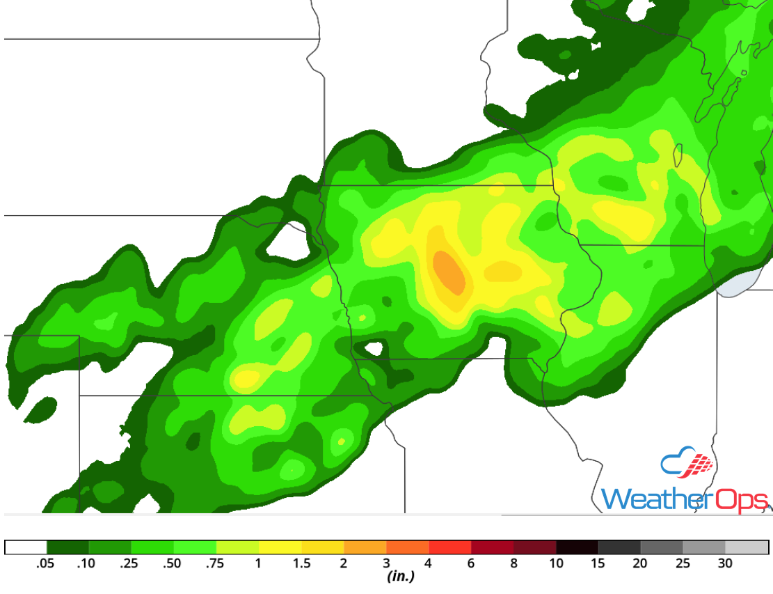 Rainfall Accumulation for Saturday, September 1, 2018