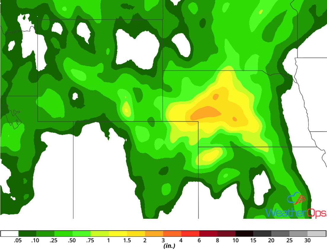 Rainfall Accumulation for Friday, May 18,, 2018