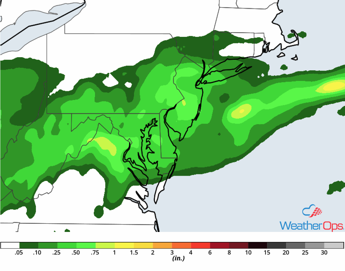 Rainfall Accumulation for Friday, September 7, 2018