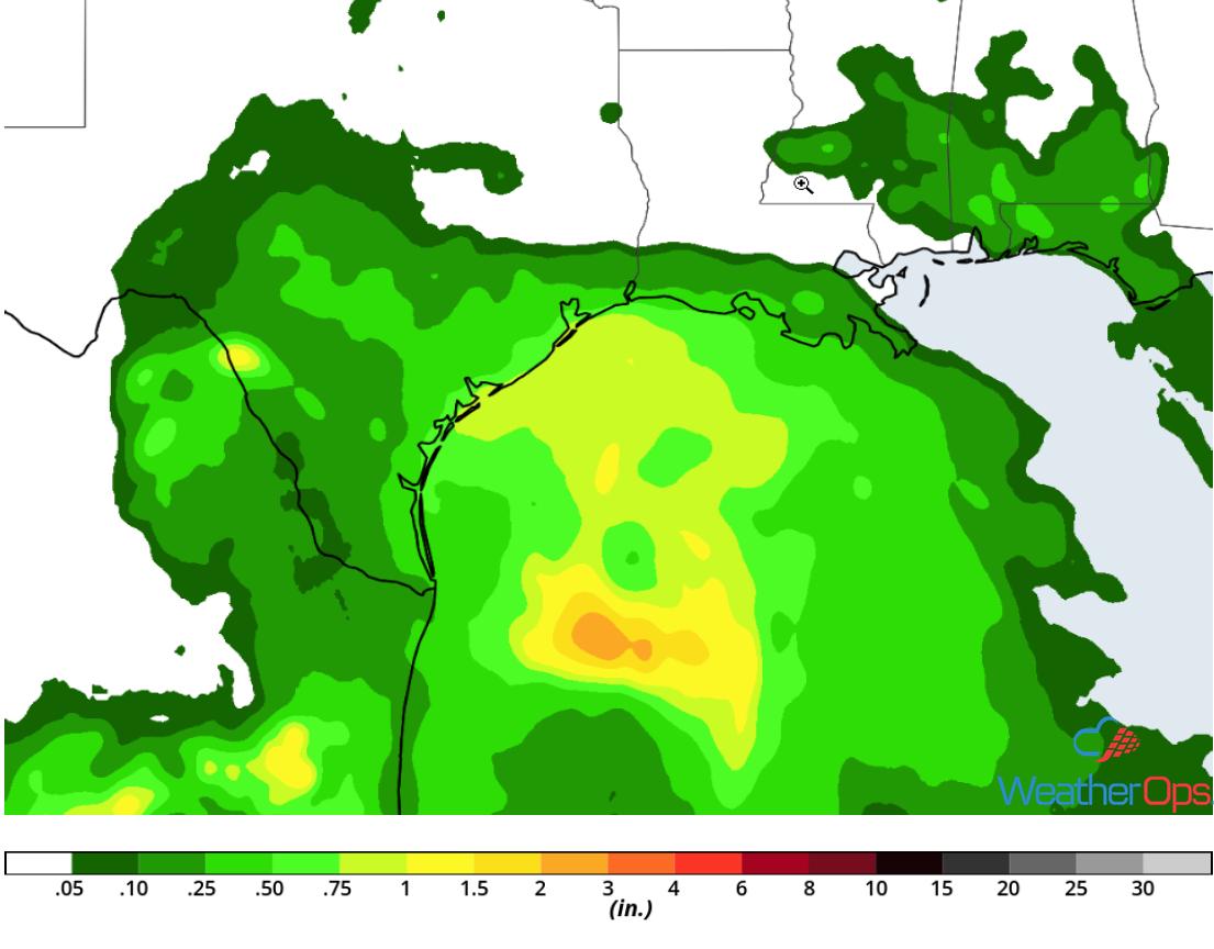 Rainfall Accumulation for Thursday, September 13, 2018