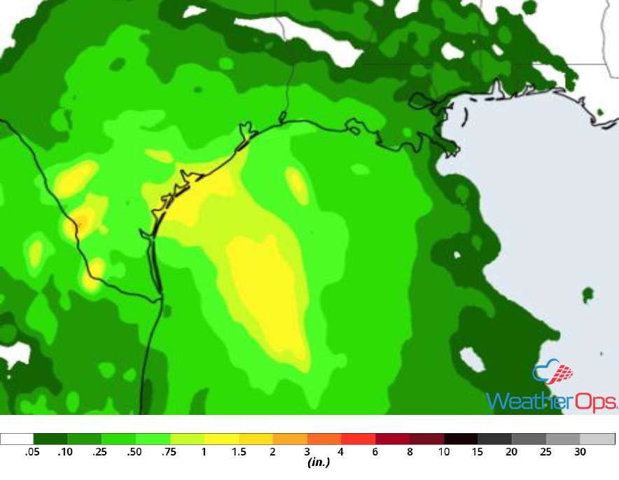 Rainfall Accumulation for Friday, September 14, 2018