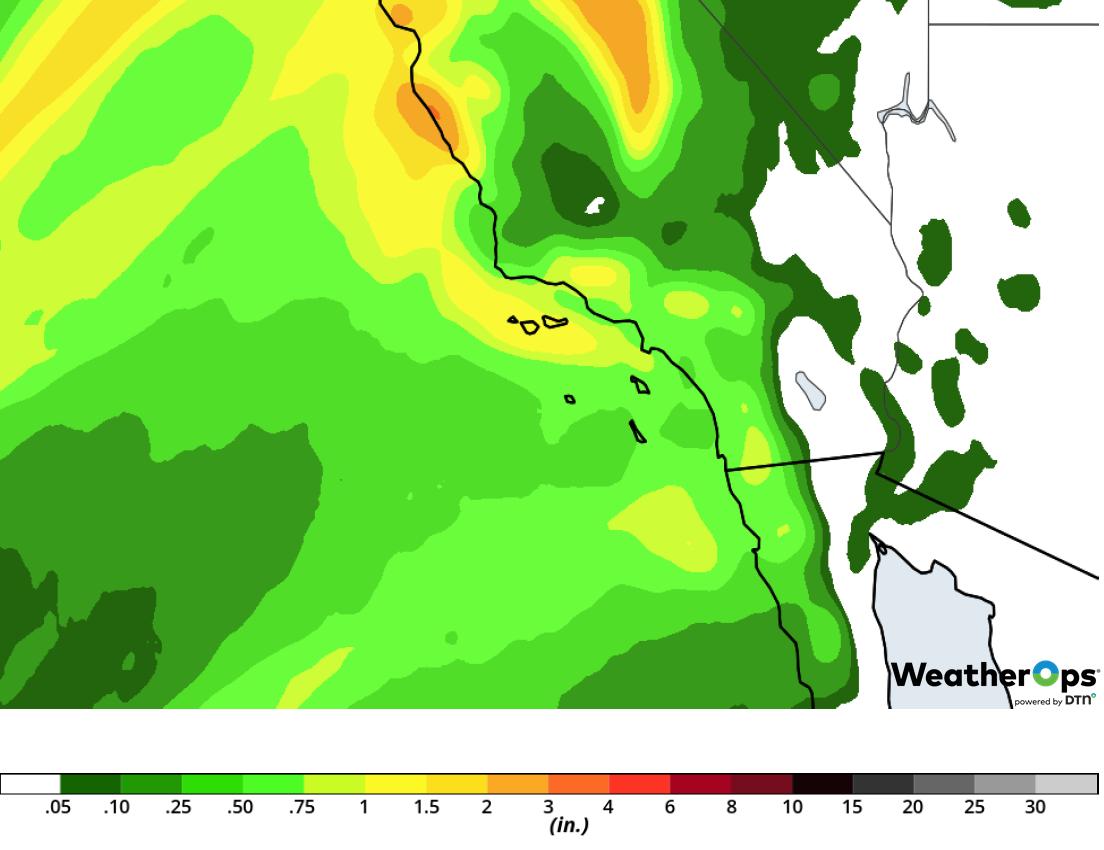 Rainfall Accumulation for Wednesday, February 13, 2019