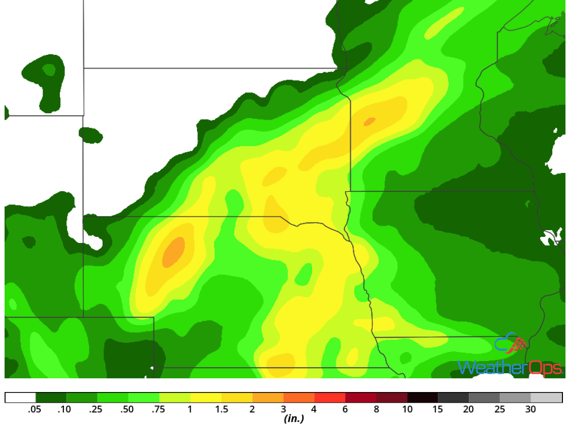 Rainfall Accumulation for Saturday, May 19, 2018