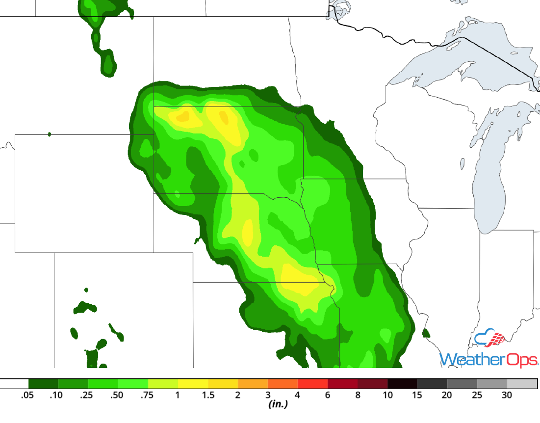 Rainfall Accumulation for Wednesday, July 18, 2018